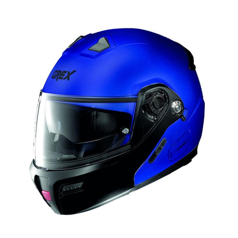 Casco Integrale apribile GREX serie G9.1 EVOLVE. Colore blu con mentoniera nera.