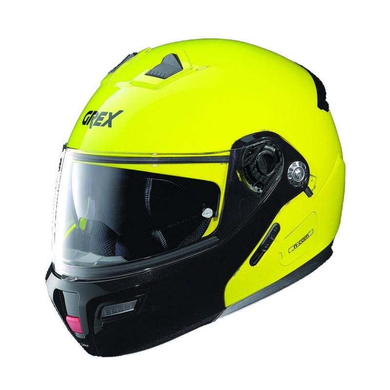 Casco Integrale apribile GREX serie G9.1 EVOLVE. Colore giallo fluo con mentoniera nera.