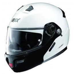 Casco Integrale apribile GREX serie G9.1 EVOLVE. Colore bianco con mentoniera nera.