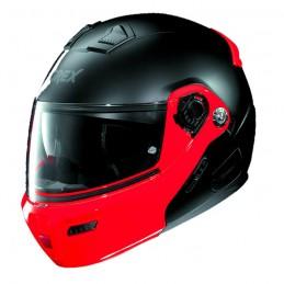 Casco Integrale apribile GREX serie G9.1 EVOLVE. Colore nero opaco con mentoniera rossa.