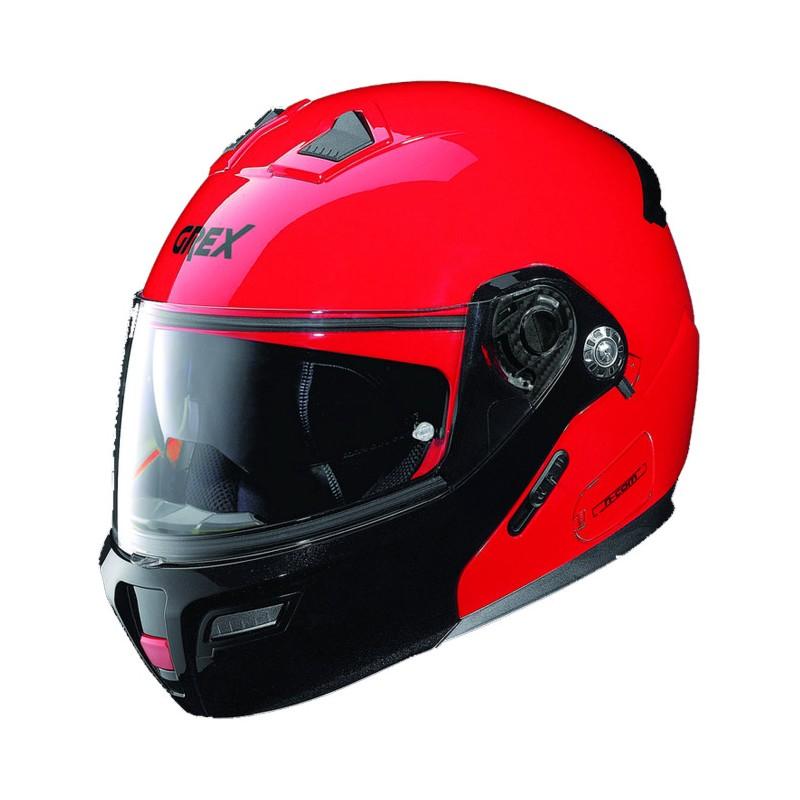 Casco Integrale apribile GREX serie G9.1 EVOLVE. Colore rosso con mentoniera nera.