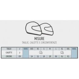 Misure disponibili casco GREX G3.1E. Verifica la tua taglia